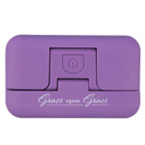 You will be able to read without hurting your eyes with theGrace Upon Grace Purple Adjustable Clip-On Book Light.Its small, compact design will give you hours of reading without disturbing others around you.