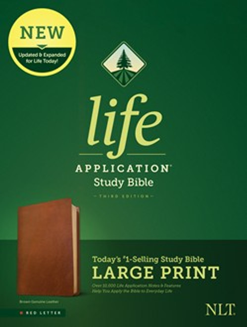 NLT Life Application Bible, Third Edition, Large Print is an updated and expanded Bible which provides more relevant insights into God's Word and how to apply it's principles in everyday life.