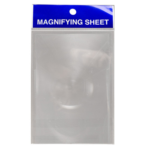 Keep aPocket Square Magnifying Sheet in your pocket to pull out at a moment's notice when you have to read small print.  At 150 % magnification, this little magnifying sheet will make it easy to see small print or images. It might help you see what might otherwise be hidden between the lines.