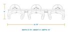 SeaSucker 3-Tank Rack Vertical Mount Dimensions