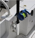 SeaSucker Aluminium Rod Holder inside boat
