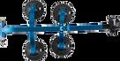 The SeaSucker Komodo with Blue Frame demonstrating its footprint - BK1910