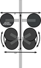 Diagram of the Komodo - Single Bike Rack for Sports Cars & Convertibles (BK1910)