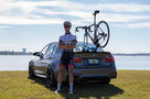 The SeaSucker Komodo on a BMW M3 - Single Bike Rack for Sports Cars & Convertibles (BK1910)