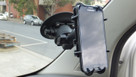 SeaSucker Heavy-Duty RAM LARGE Smartphone Mount with Samsung Smartphone in its cradle