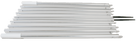 Lee's AP3916XS - 16ft Extra Strong, Bright Silver Sidewinder Outrigger Poles