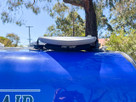 SeaSucker Roof Rack / Board Rack on a Caravan front view close up