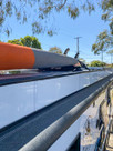 SeaSucker Roof Rack / Board Rack on a Caravan top view close up