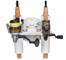 SeaSucker Pro Series 2-Rod Holder with two fishing rods being transported front view