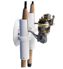 SeaSucker Pro Series 2-Rod Holder with two fishing rods being transported side view