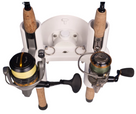 SeaSucker Pro Series 2-Rod Holder with two fishing rods being transported top view
