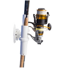 SeaSucker Pro Series 3-Rod Holder with 3 fishing rods in holder, side view