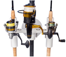 SeaSucker Pro Series 3-Rod Holder with 3 fishing rods in holder, front view