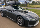 SeaSucker Monkey Bars on a Lexus LC500 with storage box