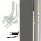 Lee's Flush Mount Skiff Outrigger Kit - For 21 to 25 ft Boats (OH2016S-TX3717SL)