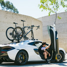 2021 Talon - Single Bike Rack 2-PACK Edition installed on the roof of a McLaren
