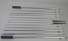 Lee's AP3519 - 18.5ft Bright Silver Outrigger Poles