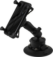 SeaSucker Heavy-Duty RAM LARGE Smartphone Mount with iPhone 8 in its cradle