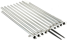 Lee's AP3716XS - 17 ft. Outrigger Poles Extra Strong Bright Silver Finish Mk II