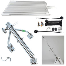 Lee's Tackle Junior Holder Wishbone Style Outrigger Kit which includes the Outrigger Holders, Outrigger Poles and Rigging Kit