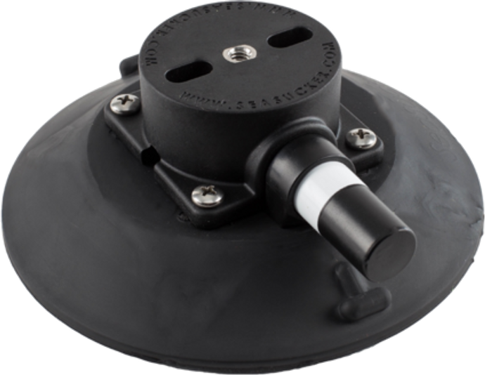 152 mm SeaSucker Black Vacuum Mount