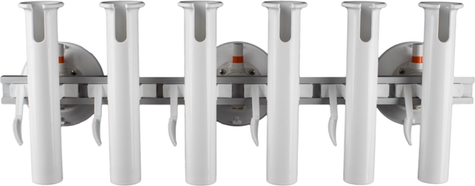 6 Rod Holder with three 152 mm Vacuum Mounts. The SeaSucker flagship boat rod holder solution capable of transporting 6 heavy game fishing rods and can also be used for trolling.