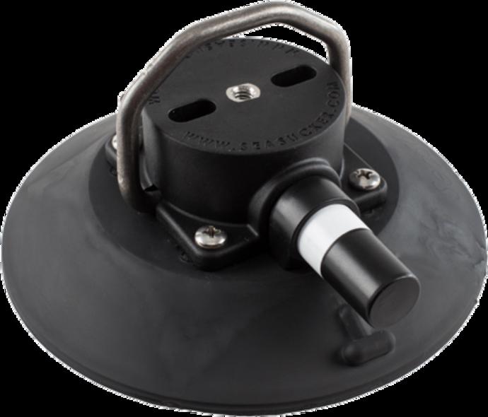 152mm SeaSucker Black Vacuum Mount with Stainless Steel D-Ring