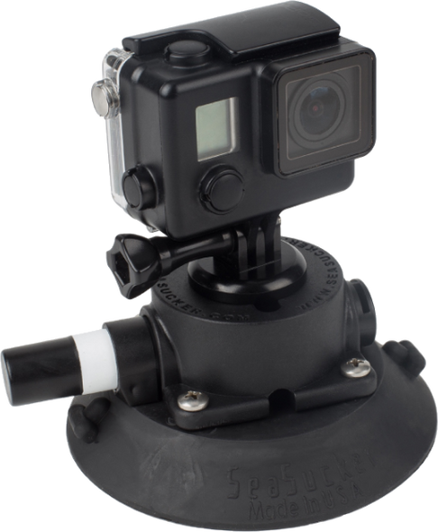 114 mm SeaSucker Go Pro Mount with Go Pro camera installed