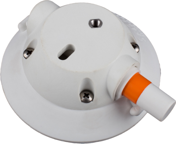 114mm SeaSucker White Vacuum Mount with Low Profile Housing