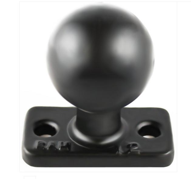 "RAM 1"" x 2"" Rectangle Base with 1.5"" Ball (RAM-202U-12)"