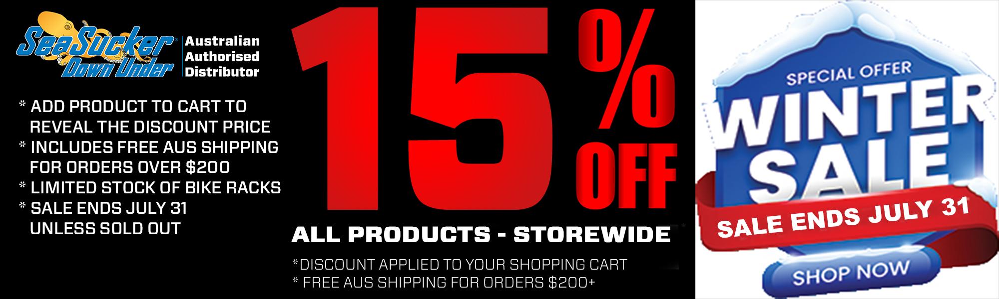 SeaSucker Down Under Winter Sale 15% off