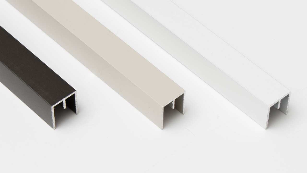 Top Track For Sliding Screen Doors - U Channel With Center Rail