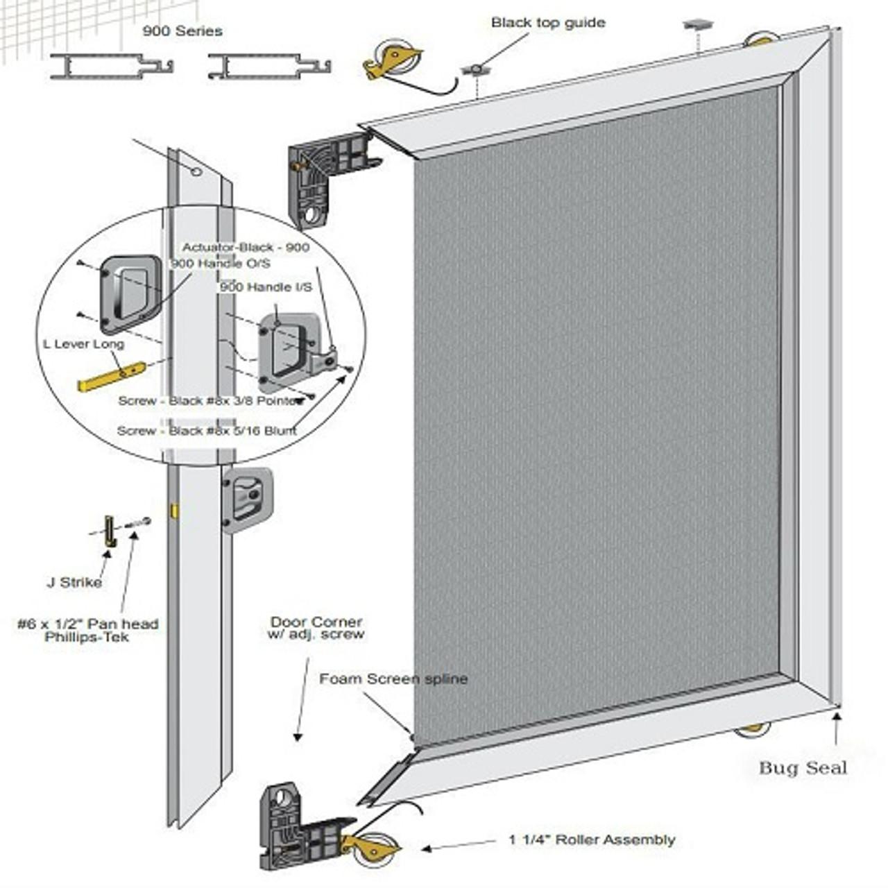 Wholesale Sliding Screen Door - Un-Assembled