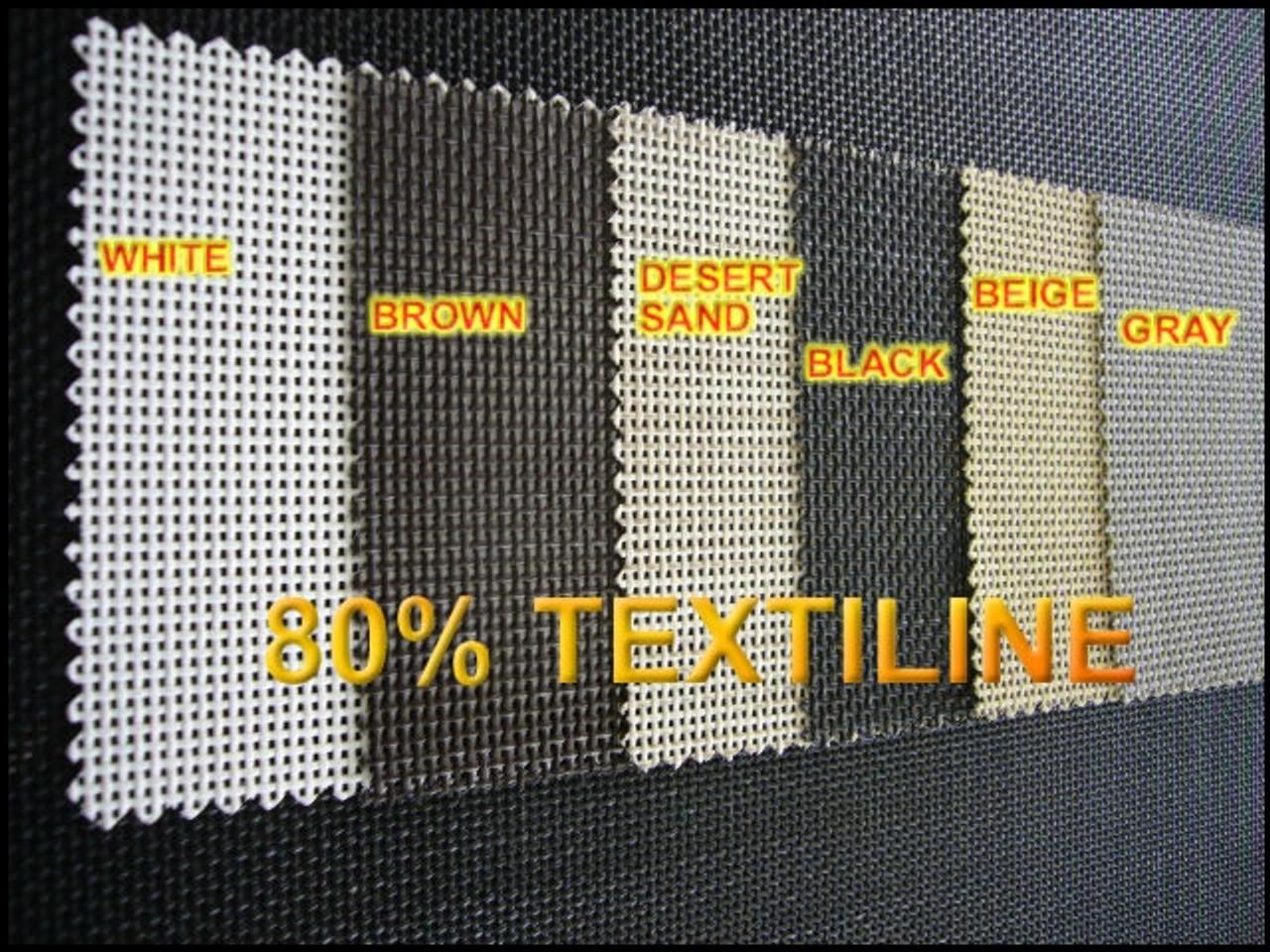 72 Inch x 100 Ft TEXTILENE 80 Percent Solar