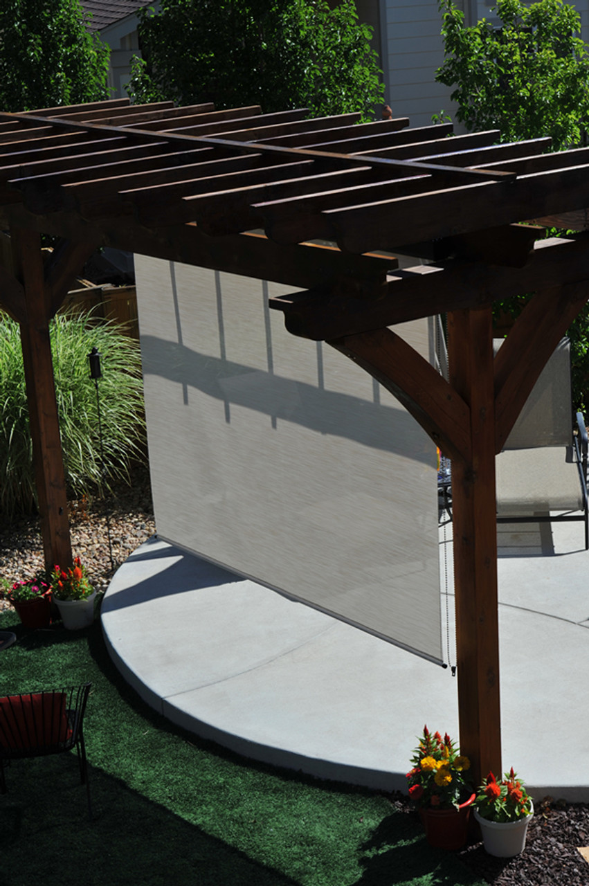 Large Retractable Screens Roll Up Solar Shades Cloth Shades Metro Screenworks