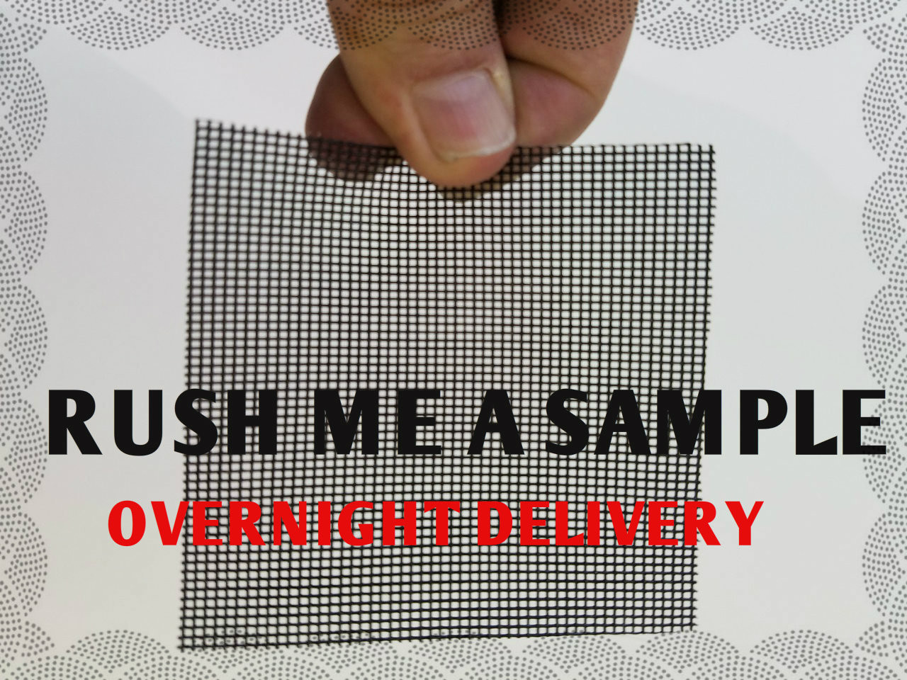 MAIL ME A SAMPLE - RUSH OVERNIGHT DELIVERY