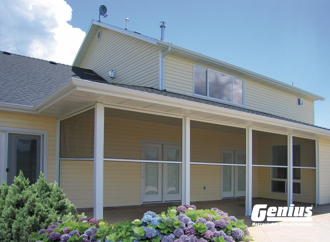 Sierra 800 Retractable Screen For Any Porch