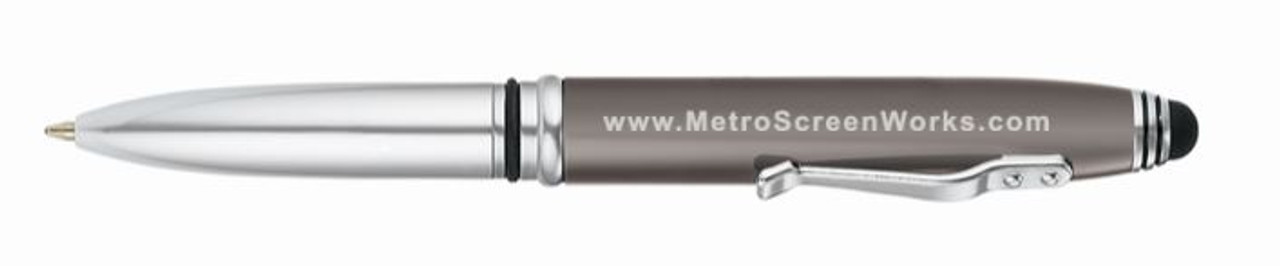 Metro Pen With Flashlight And Stylus