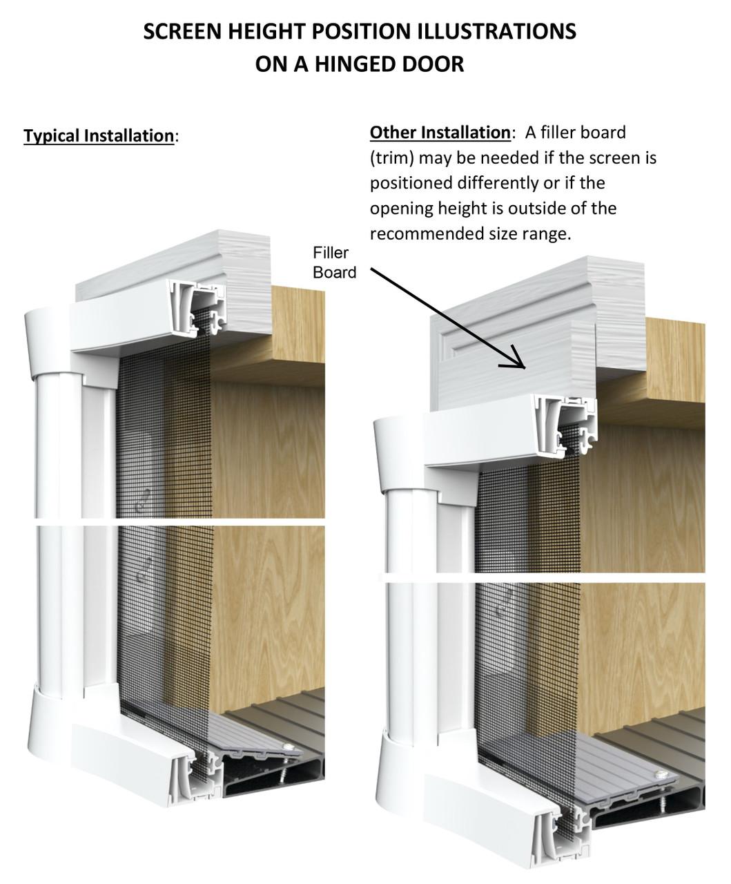 Genius® COOL Retractable Screen Door For Single Door
