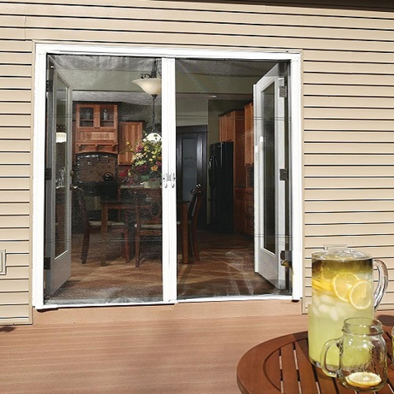 Genius® COOL Retractable Screen Door For Double Door