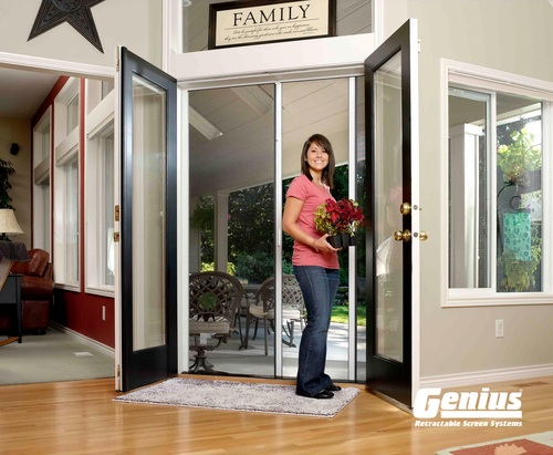 Genius® French Retractable Screen Door