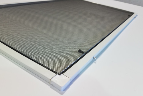 Window Screen With Spring Loaded Plunger Bolts