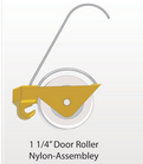 """1-1/4"""" Nylon roller assembly - Part # 20.70.00.1387"""