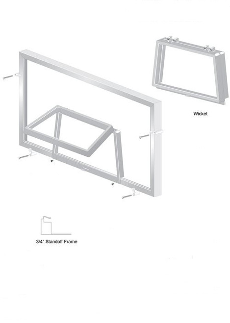 Screen wicket and window screen parts