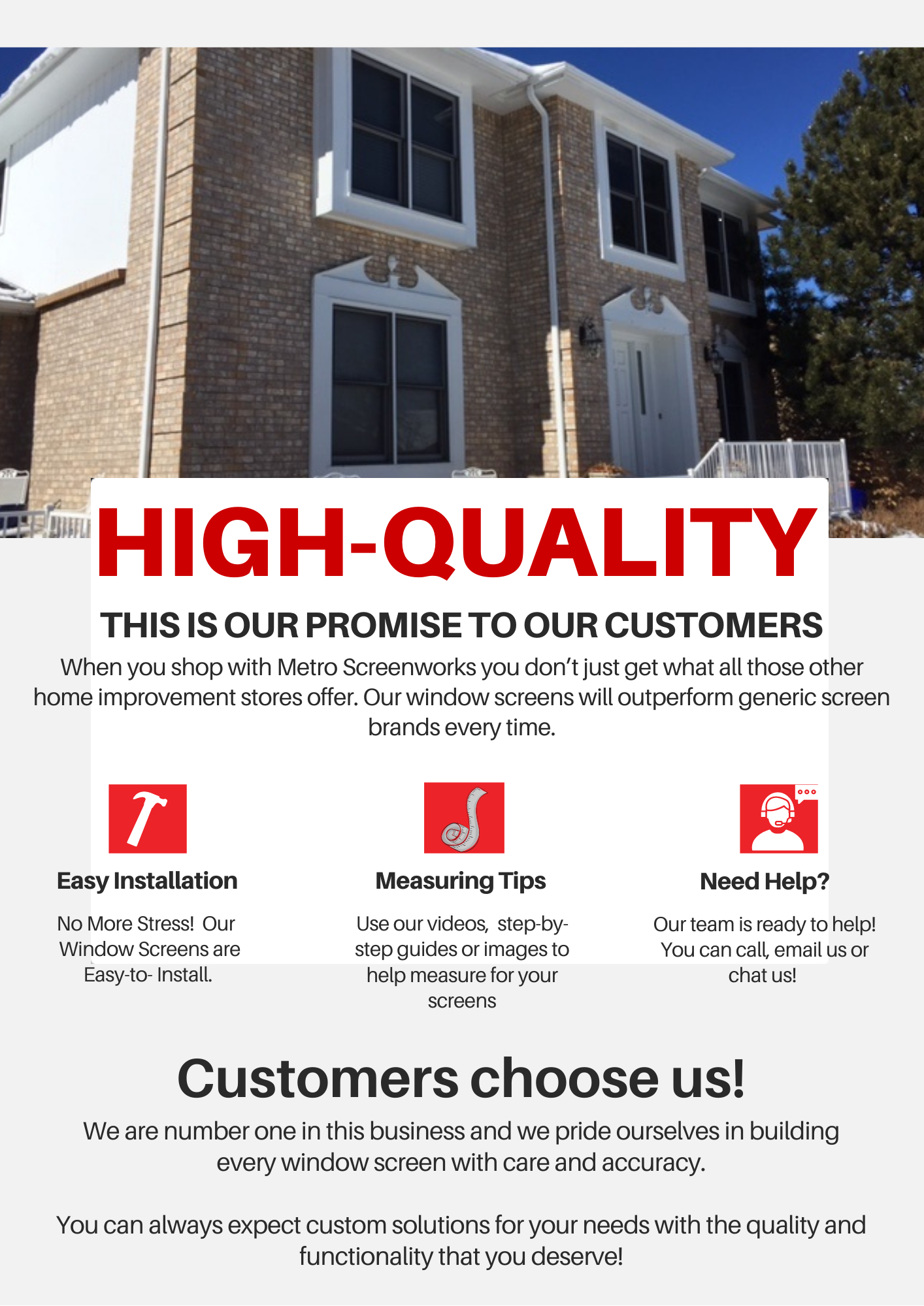 Complete Window Screens High Quality, Easy Installation, Perfect for Window Screen Replacements