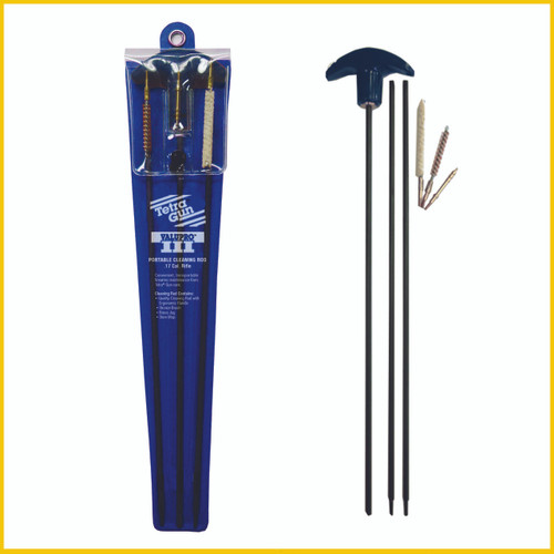 The ValuPro™ III Portable Cleaning Rods are available in .17 Cal., .22-.45 Cal. and Universal Shotgun sizes.