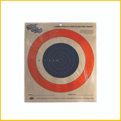 Tetra® Gun Competition 25 Yd. Slow Fire Target (20/Pack)