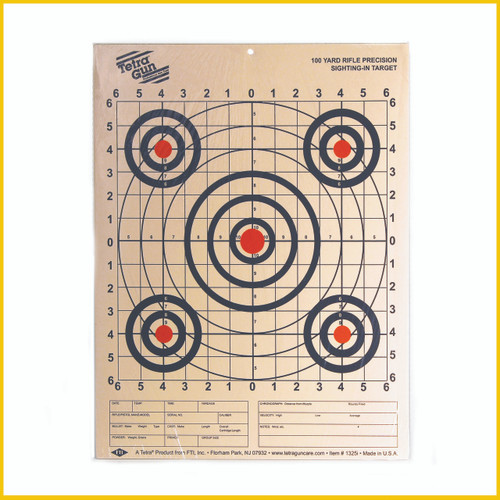 Tetra® Gun Targets are official in all dimensions, but intended for practice use only.