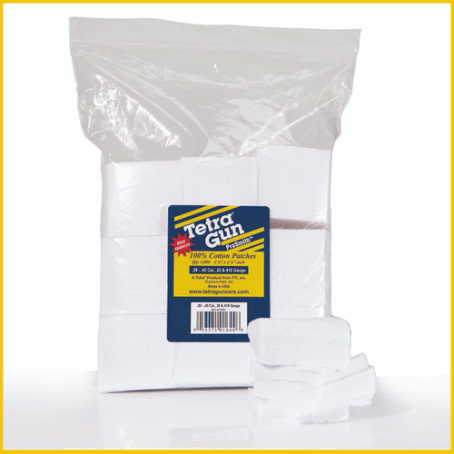 .38 - .45 Cal., 20 & 410 Gauge Cleaning Patches (1000 Pack)