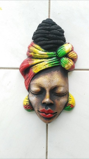 Elegant ceramic wrap head mask.  A beautiful art piece